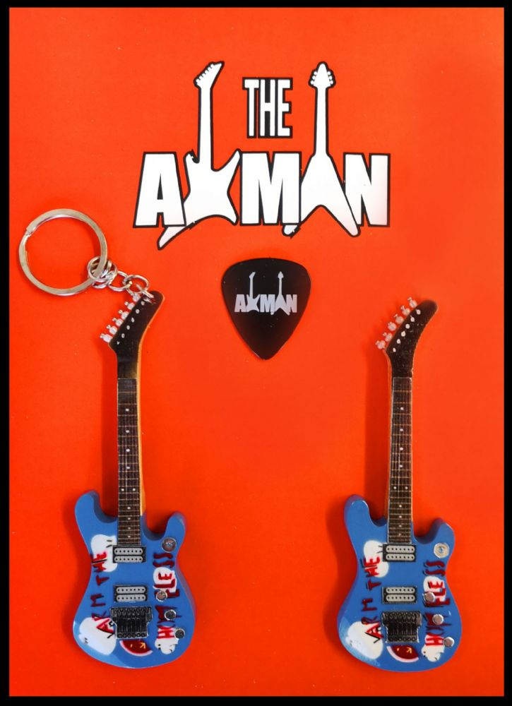 (Rage Against The Machine) Tom Morello - Custom 'Arm The Homeless' - Keyring & Magnet Variation